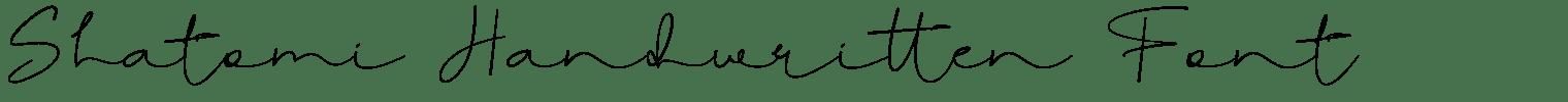 Shatomi Handwritten Font