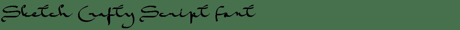 Sketch Crafty Script Font