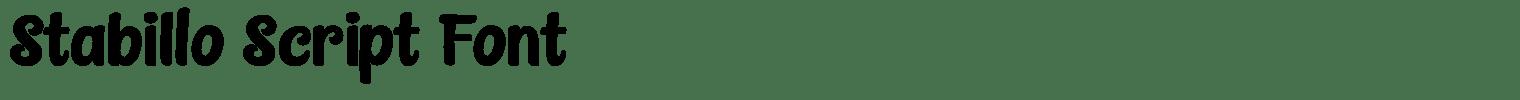 Stabillo Script Font