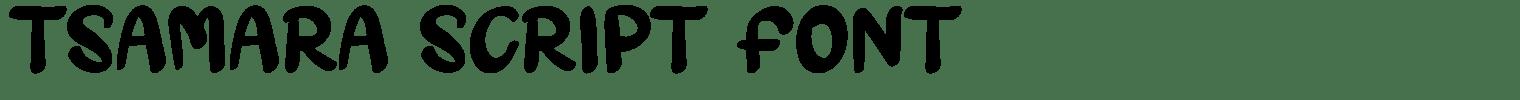 Tsamara Script Font