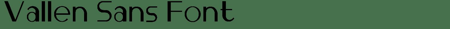 Vallèn Sans Font
