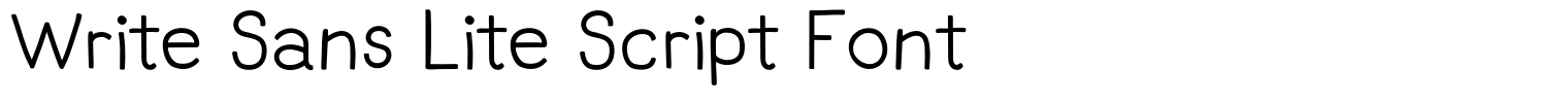Write Sans Lite Script Font