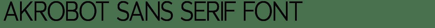 Akrobot Sans Serif Font