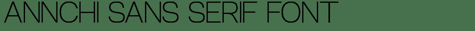 Annchi Sans Serif Font