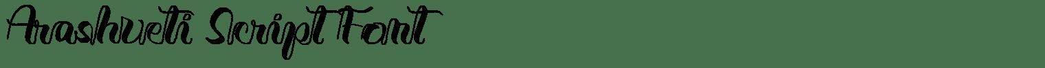 Arashveti Script Font