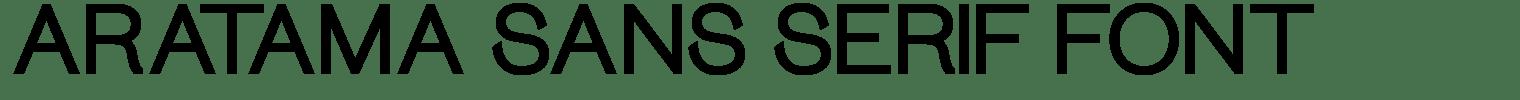 Aratama Sans Serif Font
