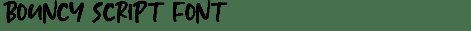 BOUNCY Script Font
