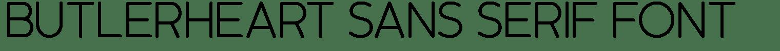 Butlerheart Sans Serif Font