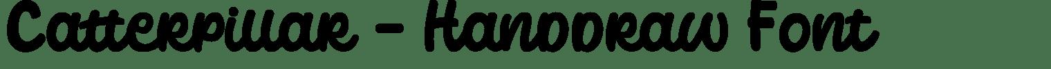 Catterpillar – Handdraw Font