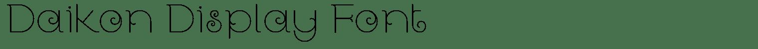 Daikon Display Font