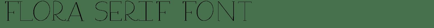 Flora Serif Font