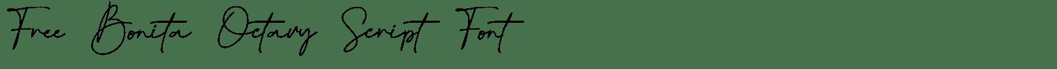 Free Bonita Octavy Script Font