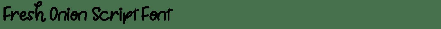 Fresh Onion Script Font