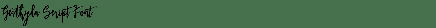 Gesthyla Script Font