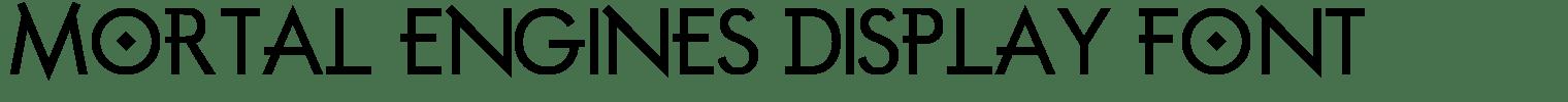 Mortal Engines Display Font