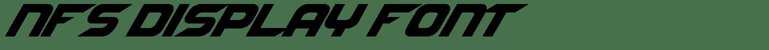 NFS Display Font