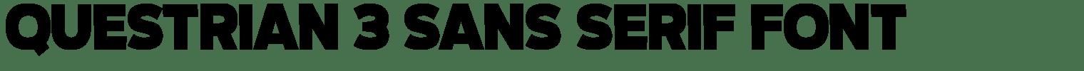 Questrian 3 Sans Serif Font