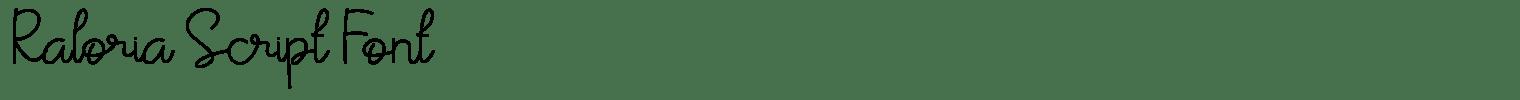 Raloria Script Font