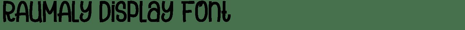 Raumaly Display Font