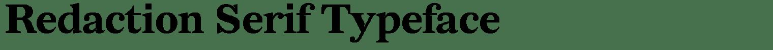 Redaction Serif Typeface