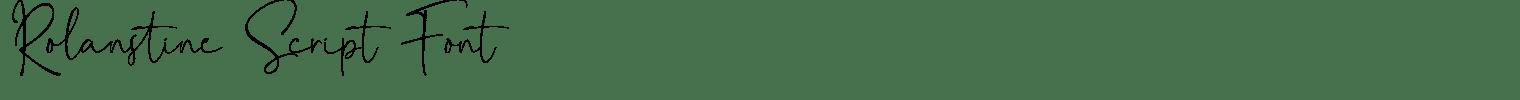Rolanstine Script Font