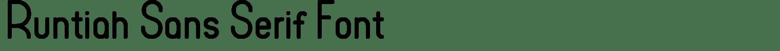 Runtiah Sans Serif Font