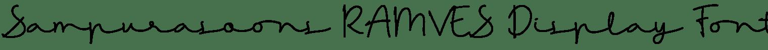 Sampurasoons RAMVES Display Font