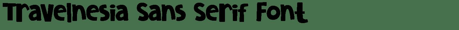 Travelnesia Sans Serif Font