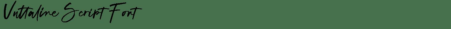 Vuttaline Script Font