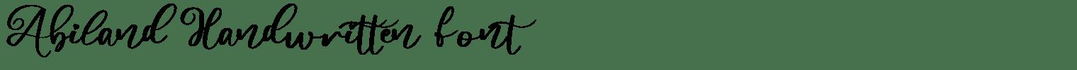 Abiland Handwritten Font