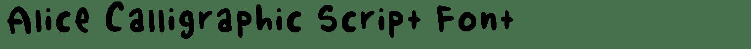 Alice Calligraphic Script Font
