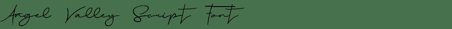 Angel Valley Script Font