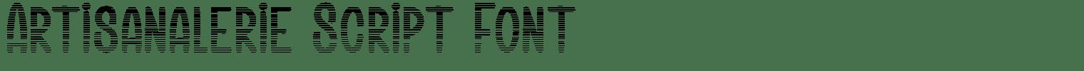 Artisanalerie Script Font