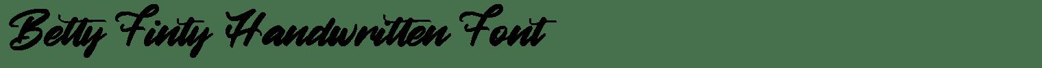 Betty Finty Handwritten Font