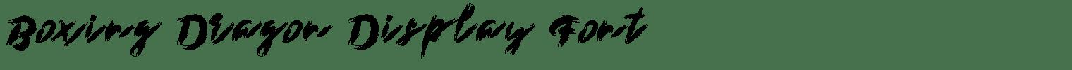 Boxing Dragon Display Font