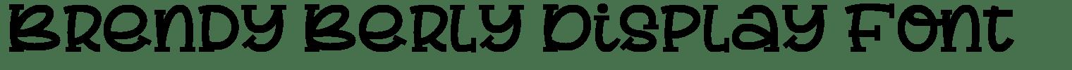 Brendy Berly Display Font