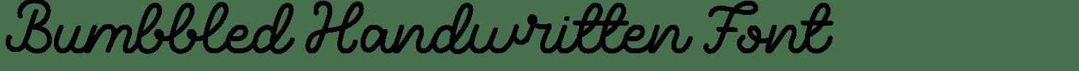 Bumbbled Handwritten Font