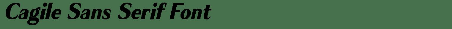 Cagile Sans Serif Font
