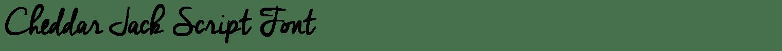 Cheddar Jack Script Font