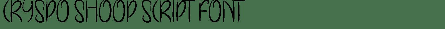 Cryspo Shoop Script Font