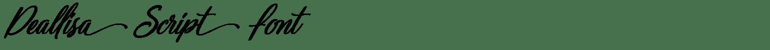 Deallisa Script Font
