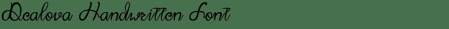 Dealova Handwritten Font
