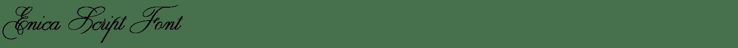 Enica Script Font
