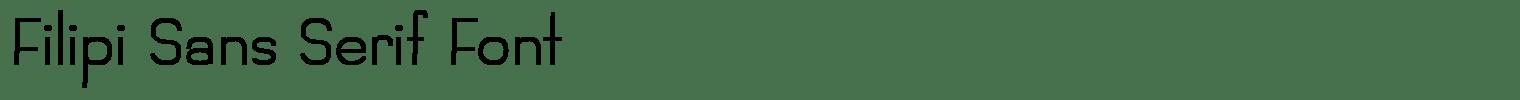 Filipi Sans Serif Font