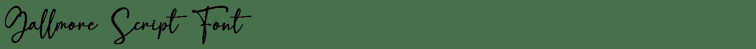 Gallmore Script Font