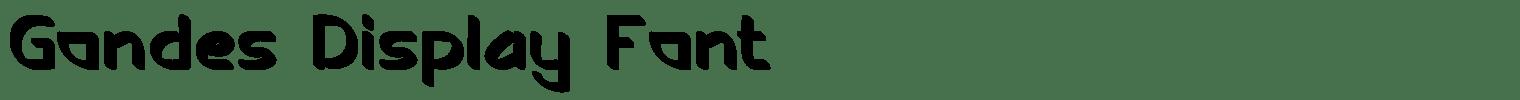 Gondes Display Font
