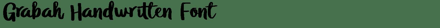 Grabah Handwritten Font