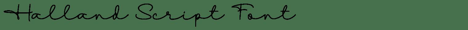 Halland Script Font