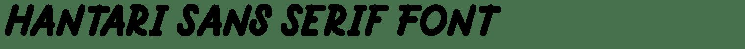 Hantari Sans Serif Font