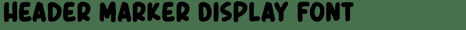 Header Marker Display Font